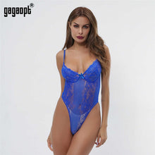 Load image into Gallery viewer, Floral Embroidery Lace Bodysuit