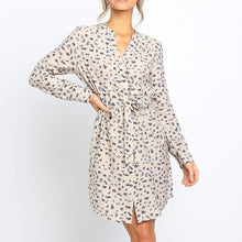 Load image into Gallery viewer, Long Sleeve Floral Print Dress