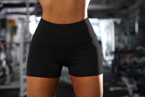 New Women High Waist Shorts Workout Stretch Gym Bottoms