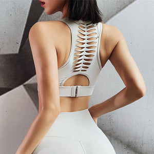 Breathable Back Closure Sports Bra