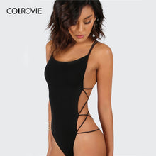 Load image into Gallery viewer, Strappy Backless Bodysuit