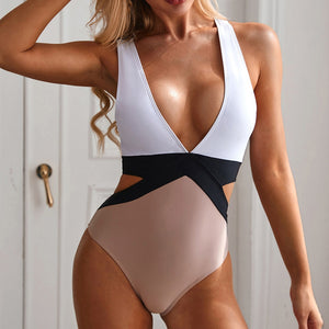 One Piece V-Neck Monokini