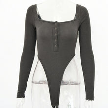 Load image into Gallery viewer, Off The Shoulder Long Sleeve High Cut Bodysuit
