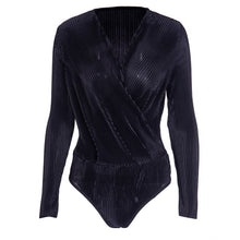 Load image into Gallery viewer, Long Sleeve V Neck Bodysuit
