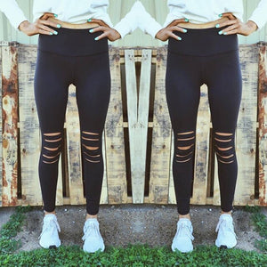 Stretch Ripped Active Leggings