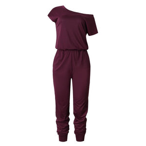 Short Sleeve Comfy Jumpsuit with Pockets