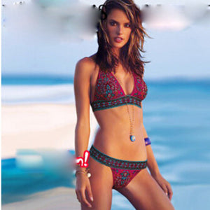 Two Piece Printed Bathing Suit