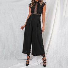 Load image into Gallery viewer, Ruffle Sleeveless Wide Leg Jumpsuit