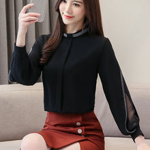 Load image into Gallery viewer, Chiffon Long Sleeve Blouse