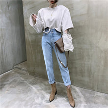 Load image into Gallery viewer, Vintage High Waist Straight Leg Jeans