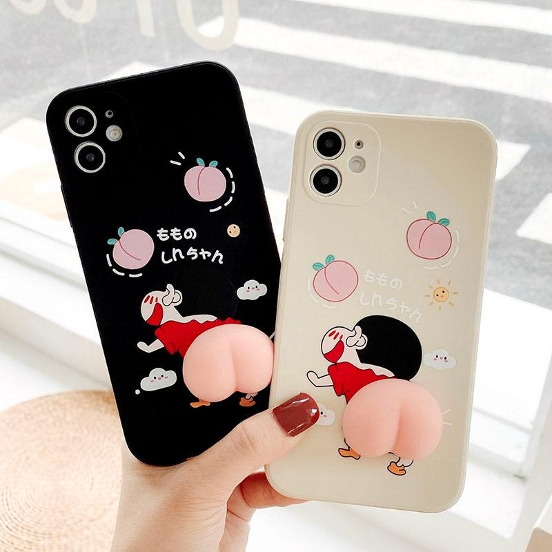 Funny Cartoon Peach Stress Reliever Case