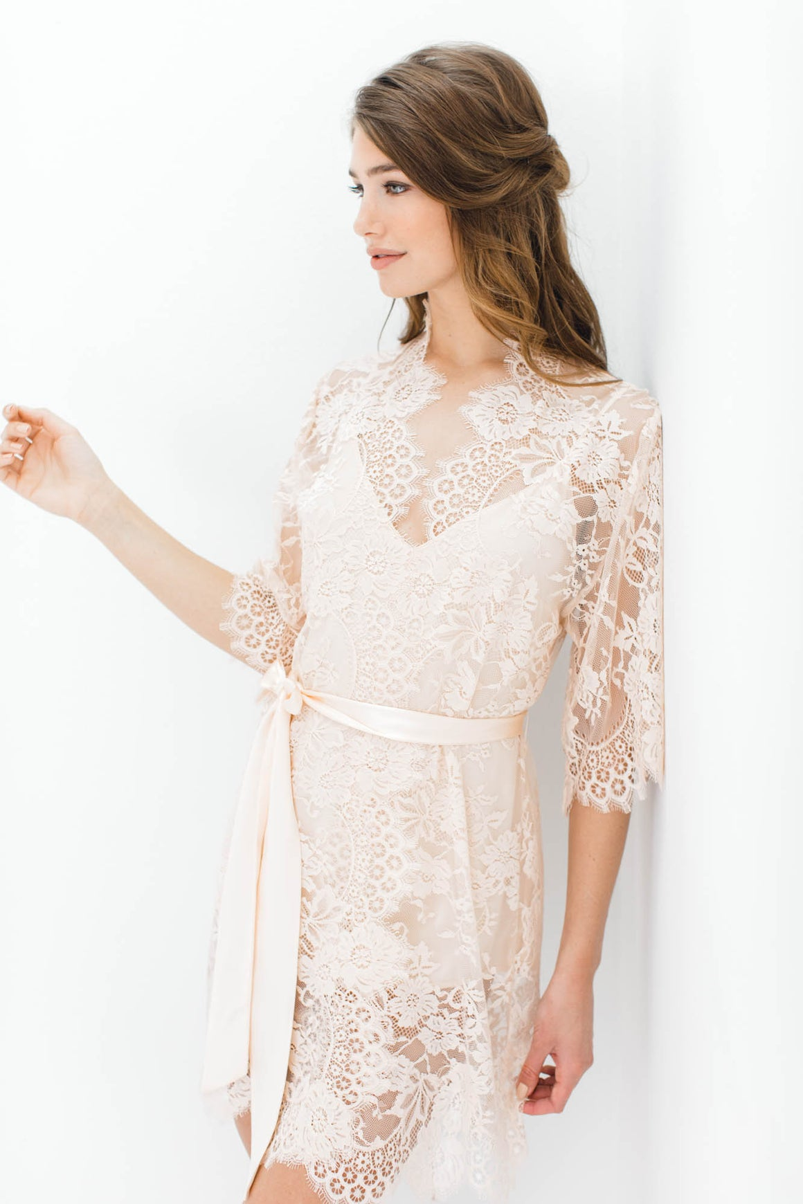Swan Queen Unlined Lace Robe