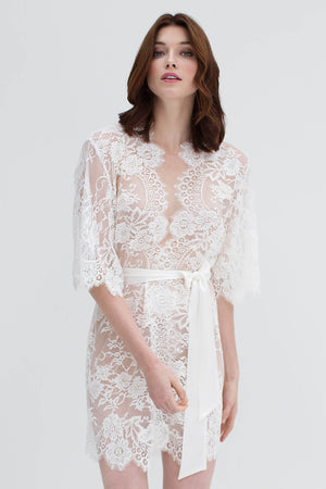 Swan Queen Lace Lined Kimono