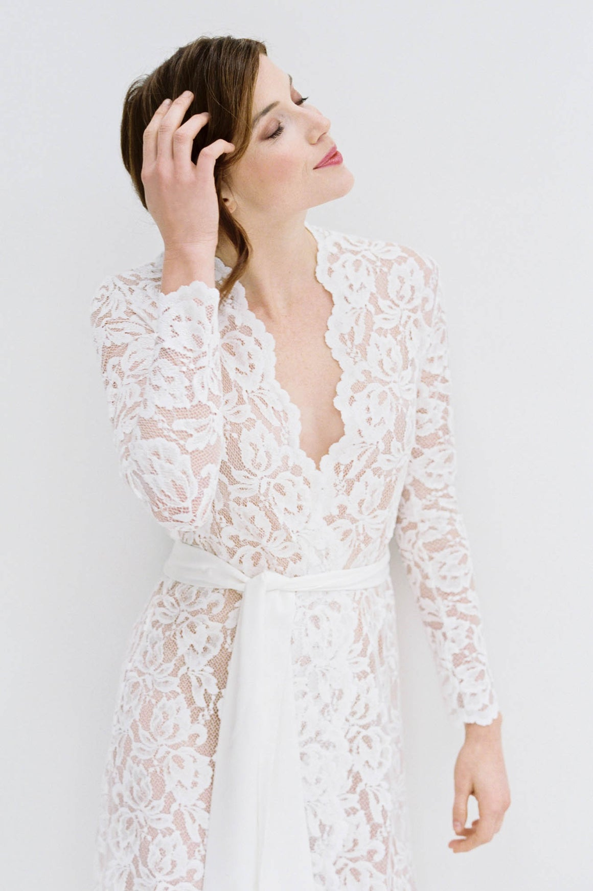 Lauren Stretch French Lace Robe