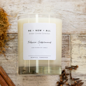 Re+New+All  Candles - Cedarwood Tobacco