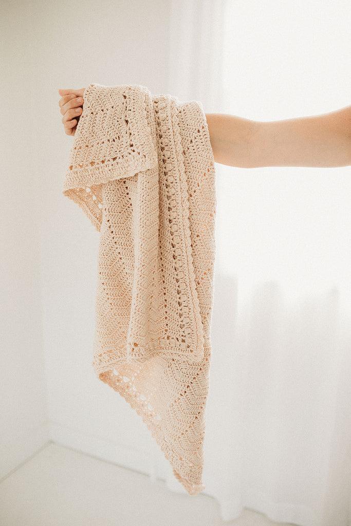 French Crochet Baby Blanket