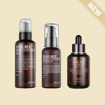[Snail Bee Trio]  HIGH CONTENT ESSENCE 60ml + HIGH CONTENT SKIN + Ultimate Serum