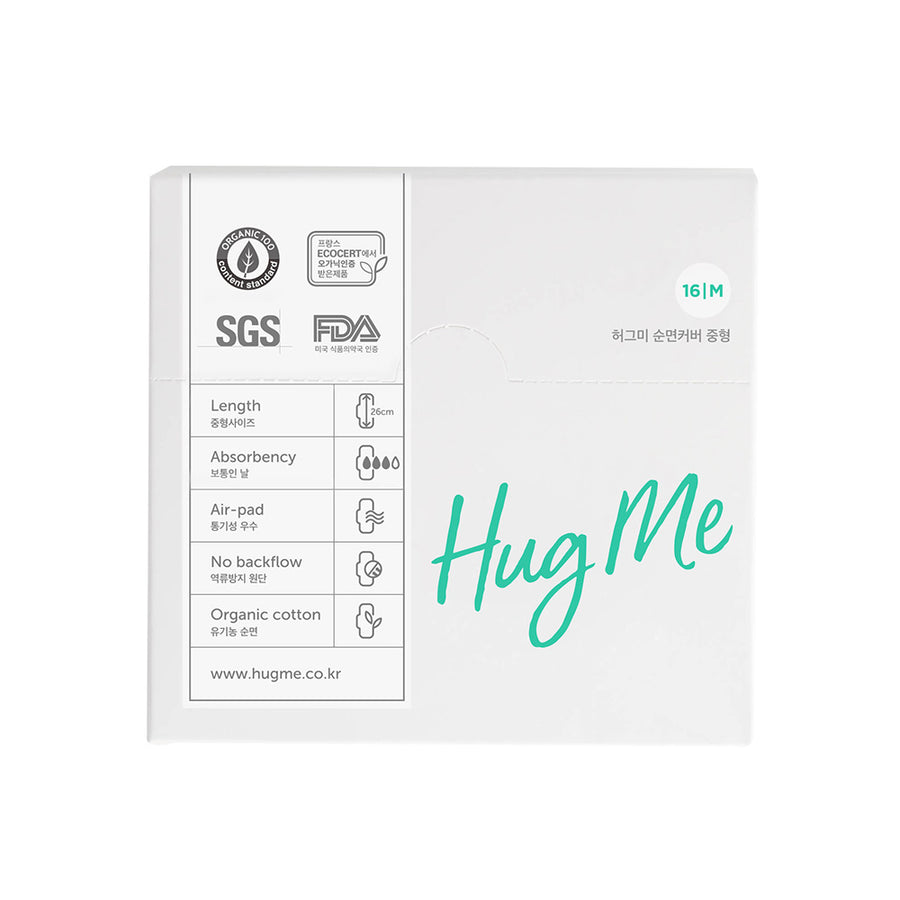 Hugme Organic sanitary pads set (2 Medium+ 1 Large)