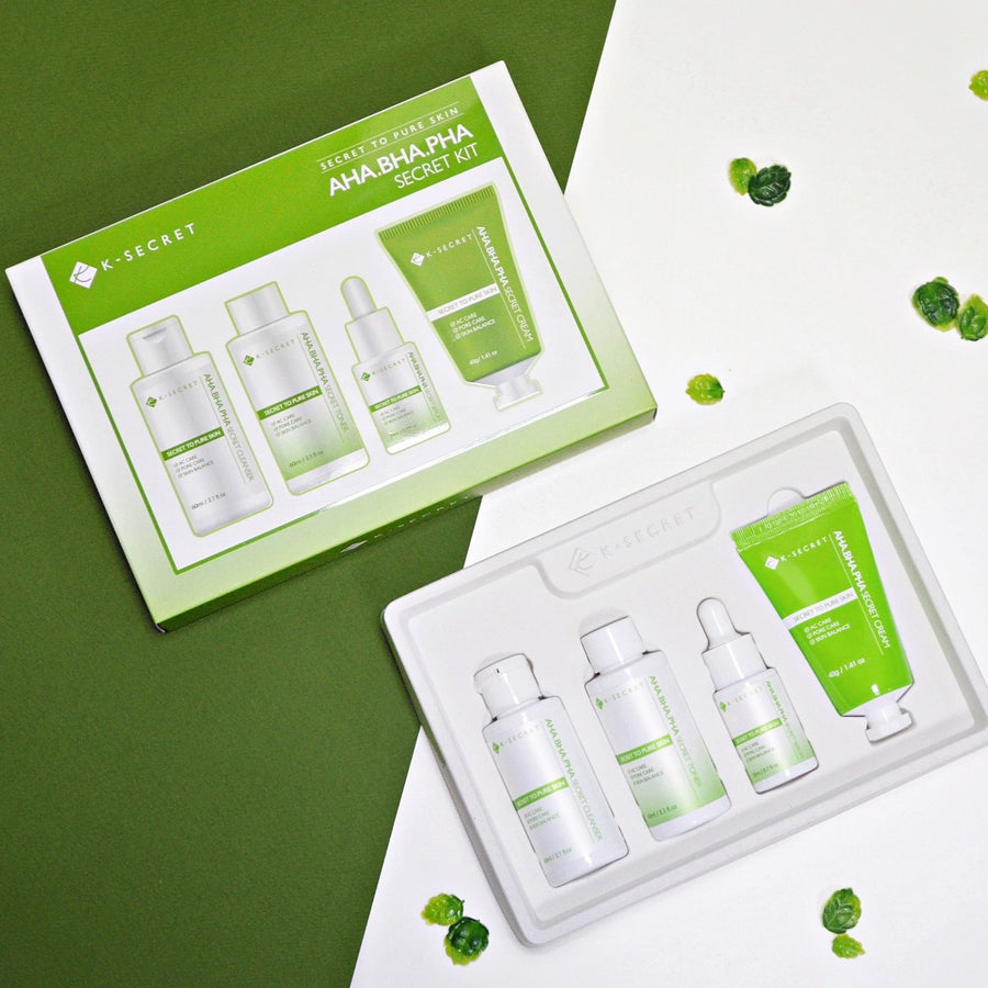 K-SECRET's AHA.BHA.PHA SECRET KIT (Secret to pure skin)