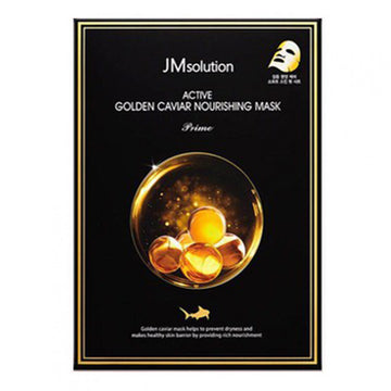JM SOLUTION Active Gold Caviar Nourishing Mask (10 Sheets)