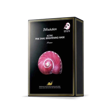 JM SOLUTION Active Pink Snail Brightening Mask (10 Sheets)