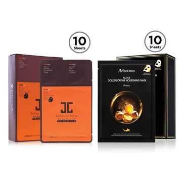 JAYJUN X JM SOLUTION Glow Skin Mask Set