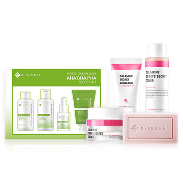 K-SECRET Solution Set (Calamine Set + AHA. BHA. PHA Secret Kit )