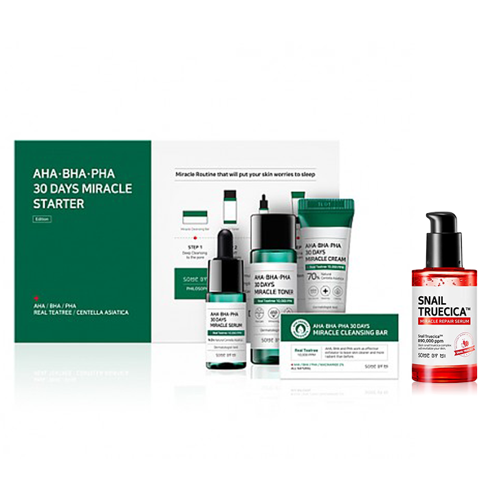 SOME BY MI Miracle Starter Kit + Snail Truecica Serum Combo