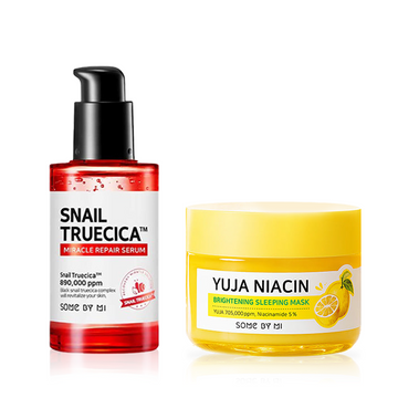 SOME BY MI Snail Truecica Miracle Serum  + Yuja Niacin Mask