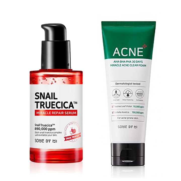 SOME BY MI Snail Truecica Serum + Miracle Foam