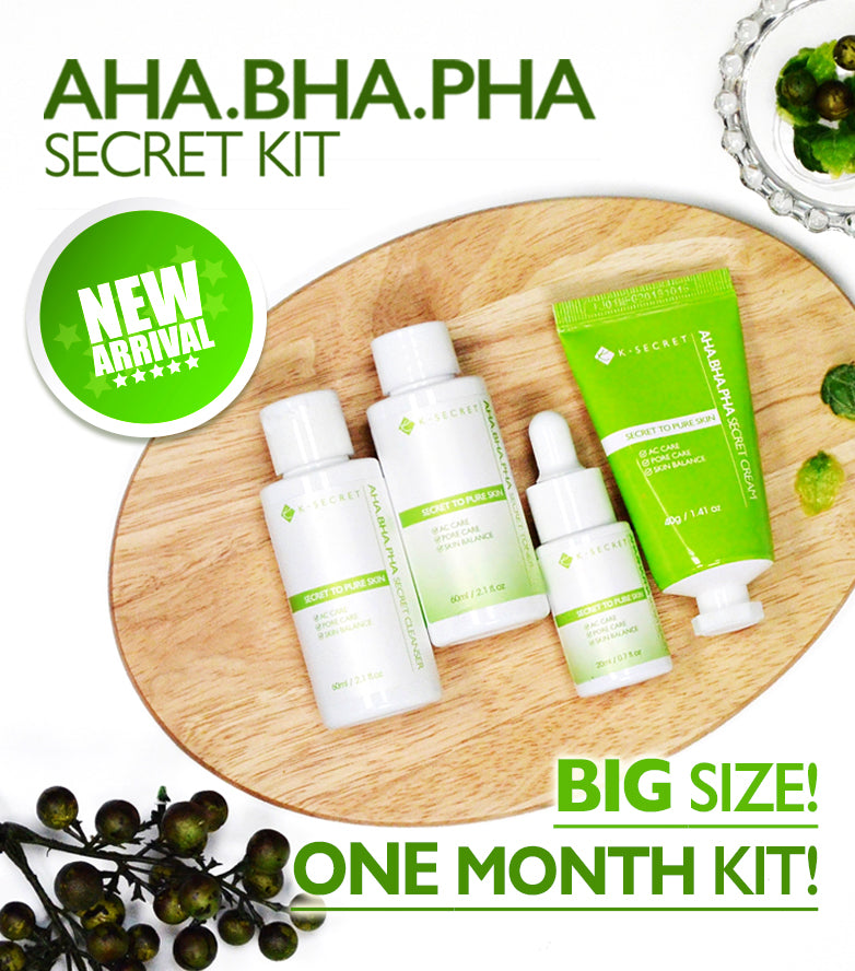 [BUY 2 GET 1 FREE] K-SECRET's AHA.BHA.PHA SECRET KIT (Secret to pure skin)