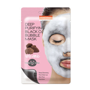 BUBBLE BLACK MASK (VOLCANIC)