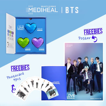 [BUY 2 GET 2 FREE] [BTS] MEDIHEAL Bio Capsulin Love Me Mask Set (with Poster & Photocard 9pcs)