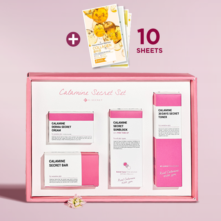 [10+10+10 FREE MASKS] K-SECRET Calamine Secret Set (Pink Solution)