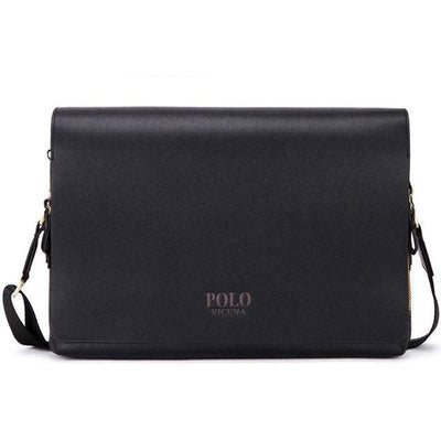 POLO x CL455 Leather Messenger Bag Black