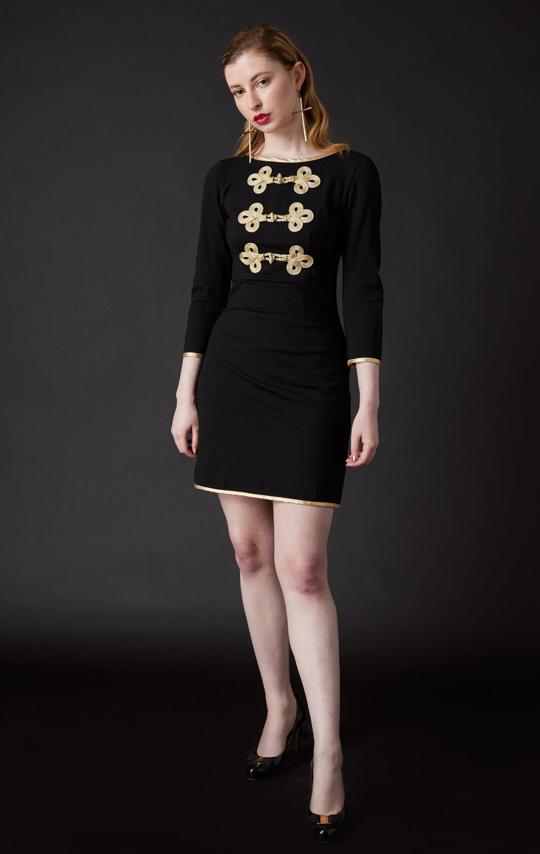 Regency Dress Black