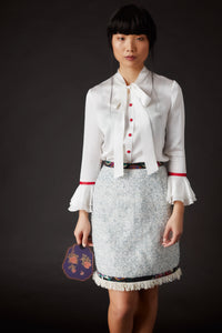 Summer Palace Ruffle Blouse White