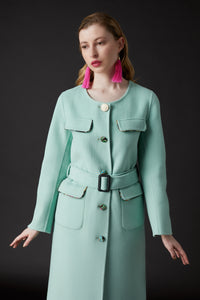 Lin Military Coat Green