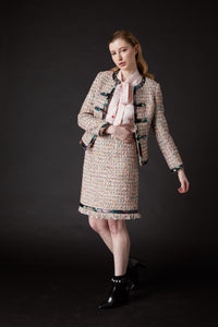 Chelsea Tang Tweed Skirt Multi