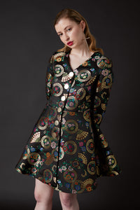 Oriental Myth Flare Dress Coat