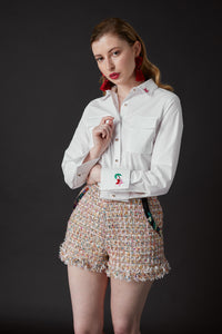 Chelsea Tang Tweed Short Multi