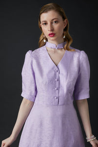 Lily Tea Dress Purple