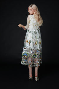 Qiaochu Embroidered Peacock Dress