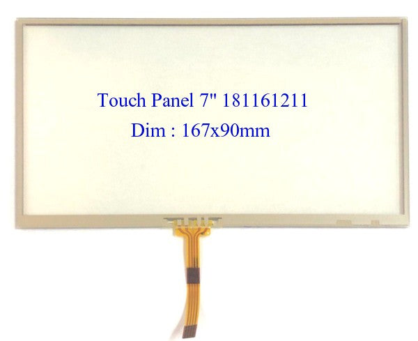 "Car Audio CD/DVD Touch Panel 7"" 167x90mm 181161211 Sony"