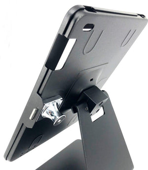 Table / Tablet Stand / Holder with Keylock 24012FB suitable for Ipad 2,3,4 (Black)