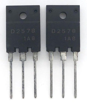 Color TV Horizontal Output Transistor 2SD2578 TO3PML Sanyo