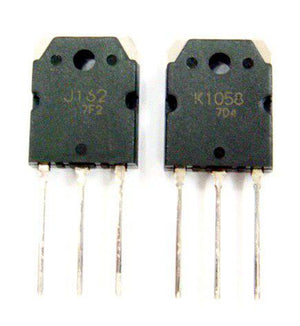Audio Power Amplifier Transistor 2SJ162/ 2SK1058 Pair /  Renesas