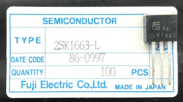 High Speed Power Switching Transistor 2SK1663-L TO220-3L Fuji Elect