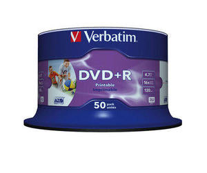 Verbatim Dvd+R Printable 50Pcs #43512