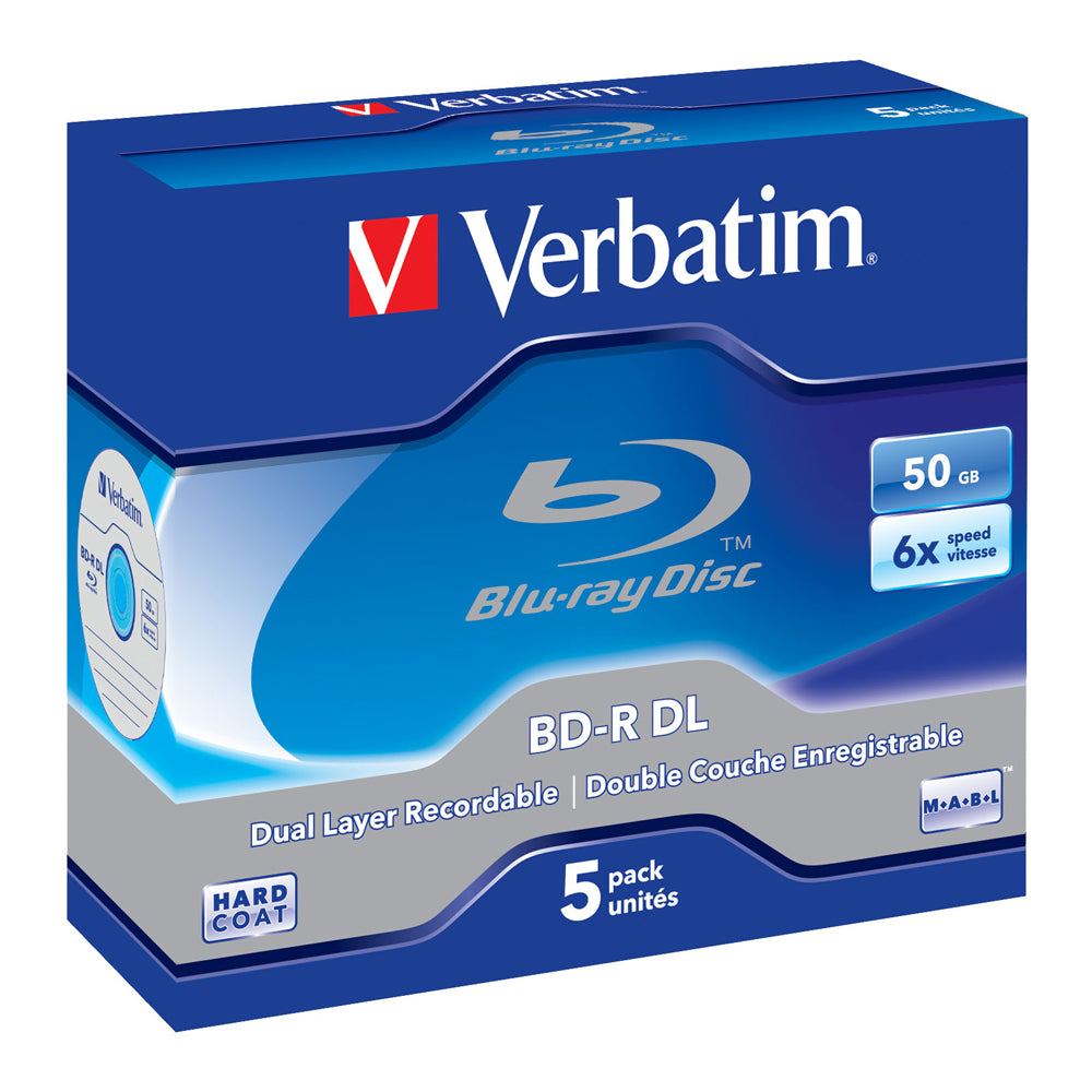 Verbatim Bd-R DL 50Gb 5Pcs Jewel Case #43748